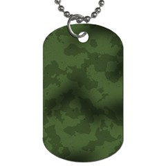 Vintage Camouflage Military Swatch Old Army Background Dog Tag (One Side)