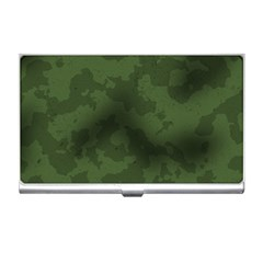 Vintage Camouflage Military Swatch Old Army Background Business Card Holders