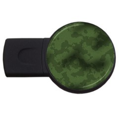 Vintage Camouflage Military Swatch Old Army Background USB Flash Drive Round (1 GB)