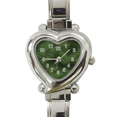 Vintage Camouflage Military Swatch Old Army Background Heart Italian Charm Watch