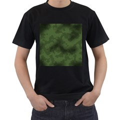 Vintage Camouflage Military Swatch Old Army Background Men s T Shirt (black) (two Sided)