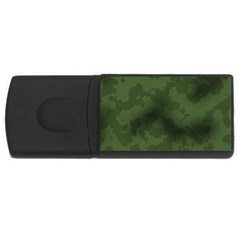 Vintage Camouflage Military Swatch Old Army Background Usb Flash Drive Rectangular (4 Gb)