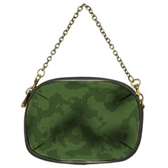 Vintage Camouflage Military Swatch Old Army Background Chain Purses (one Side)
