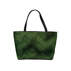Vintage Camouflage Military Swatch Old Army Background Shoulder Handbags