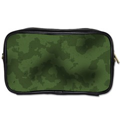 Vintage Camouflage Military Swatch Old Army Background Toiletries Bags