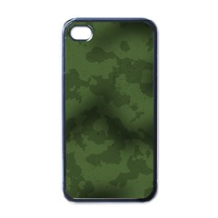 Vintage Camouflage Military Swatch Old Army Background Apple Iphone 4 Case (black)