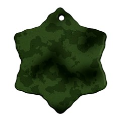 Vintage Camouflage Military Swatch Old Army Background Ornament (Snowflake)