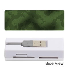 Vintage Camouflage Military Swatch Old Army Background Memory Card Reader (stick)
