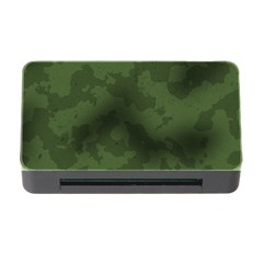 Vintage Camouflage Military Swatch Old Army Background Memory Card Reader with CF