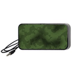 Vintage Camouflage Military Swatch Old Army Background Portable Speaker (Black)