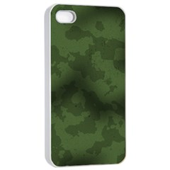 Vintage Camouflage Military Swatch Old Army Background Apple iPhone 4/4s Seamless Case (White)