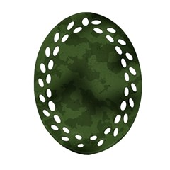 Vintage Camouflage Military Swatch Old Army Background Oval Filigree Ornament (Two Sides)