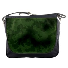 Vintage Camouflage Military Swatch Old Army Background Messenger Bags
