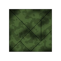 Vintage Camouflage Military Swatch Old Army Background Acrylic Tangram Puzzle (4  x 4 )