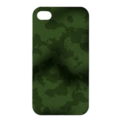 Vintage Camouflage Military Swatch Old Army Background Apple iPhone 4/4S Premium Hardshell Case