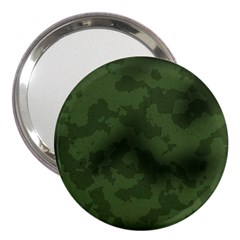 Vintage Camouflage Military Swatch Old Army Background 3  Handbag Mirrors