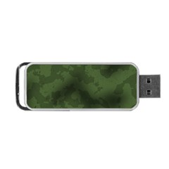 Vintage Camouflage Military Swatch Old Army Background Portable USB Flash (One Side)