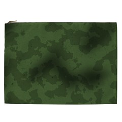 Vintage Camouflage Military Swatch Old Army Background Cosmetic Bag (XXL)