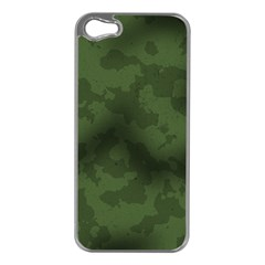 Vintage Camouflage Military Swatch Old Army Background Apple iPhone 5 Case (Silver)