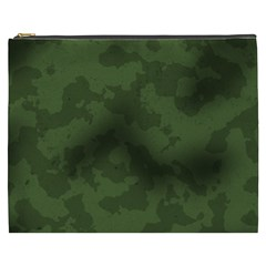 Vintage Camouflage Military Swatch Old Army Background Cosmetic Bag (XXXL)