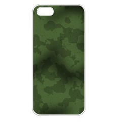 Vintage Camouflage Military Swatch Old Army Background Apple Iphone 5 Seamless Case (white)