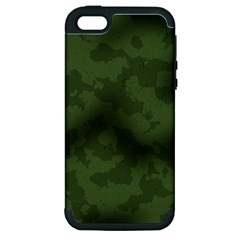 Vintage Camouflage Military Swatch Old Army Background Apple iPhone 5 Hardshell Case (PC+Silicone)