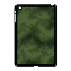 Vintage Camouflage Military Swatch Old Army Background Apple iPad Mini Case (Black)
