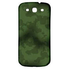 Vintage Camouflage Military Swatch Old Army Background Samsung Galaxy S3 S III Classic Hardshell Back Case
