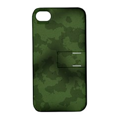Vintage Camouflage Military Swatch Old Army Background Apple Iphone 4/4s Hardshell Case With Stand