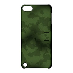 Vintage Camouflage Military Swatch Old Army Background Apple iPod Touch 5 Hardshell Case with Stand