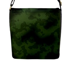 Vintage Camouflage Military Swatch Old Army Background Flap Messenger Bag (L)