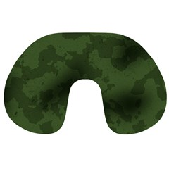Vintage Camouflage Military Swatch Old Army Background Travel Neck Pillows