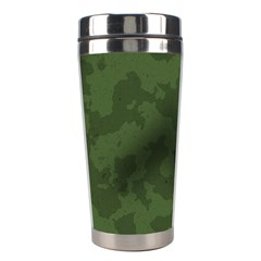 Vintage Camouflage Military Swatch Old Army Background Stainless Steel Travel Tumblers