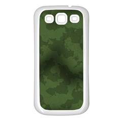 Vintage Camouflage Military Swatch Old Army Background Samsung Galaxy S3 Back Case (White)
