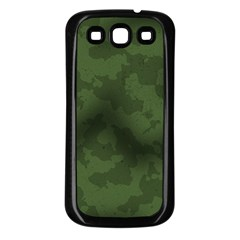 Vintage Camouflage Military Swatch Old Army Background Samsung Galaxy S3 Back Case (Black)