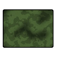 Vintage Camouflage Military Swatch Old Army Background Double Sided Fleece Blanket (Small)