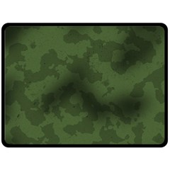 Vintage Camouflage Military Swatch Old Army Background Double Sided Fleece Blanket (Large)