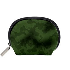 Vintage Camouflage Military Swatch Old Army Background Accessory Pouches (Small)