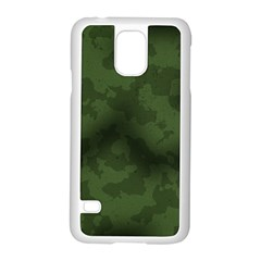 Vintage Camouflage Military Swatch Old Army Background Samsung Galaxy S5 Case (White)