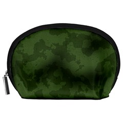 Vintage Camouflage Military Swatch Old Army Background Accessory Pouches (Large)