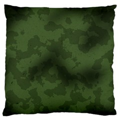 Vintage Camouflage Military Swatch Old Army Background Large Flano Cushion Case (Two Sides)