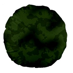 Vintage Camouflage Military Swatch Old Army Background Large 18  Premium Flano Round Cushions