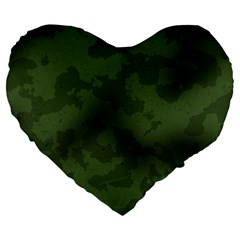 Vintage Camouflage Military Swatch Old Army Background Large 19  Premium Flano Heart Shape Cushions