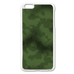 Vintage Camouflage Military Swatch Old Army Background Apple Iphone 6 Plus/6s Plus Enamel White Case