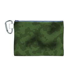 Vintage Camouflage Military Swatch Old Army Background Canvas Cosmetic Bag (M)
