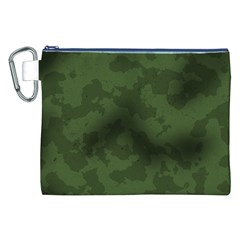 Vintage Camouflage Military Swatch Old Army Background Canvas Cosmetic Bag (XXL)