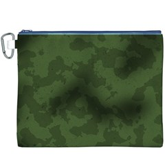 Vintage Camouflage Military Swatch Old Army Background Canvas Cosmetic Bag (XXXL)