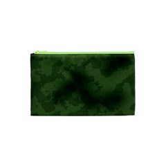 Vintage Camouflage Military Swatch Old Army Background Cosmetic Bag (XS)
