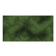 Vintage Camouflage Military Swatch Old Army Background Satin Shawl