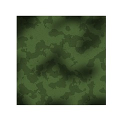 Vintage Camouflage Military Swatch Old Army Background Small Satin Scarf (Square)